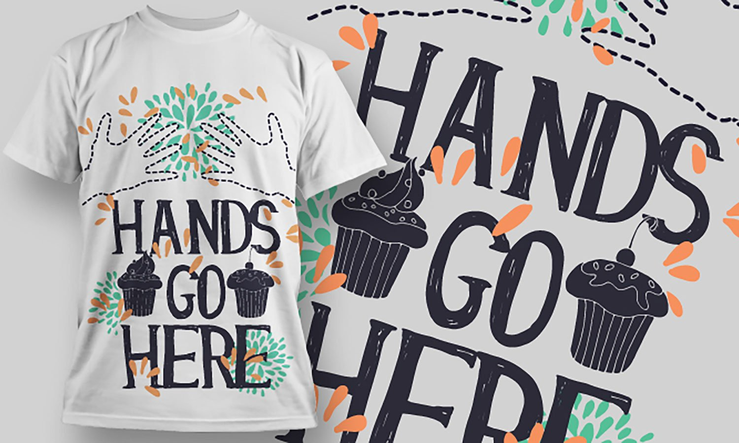Hands Go Here - Printed T-Shirt for Men, Women and Kids - TS278