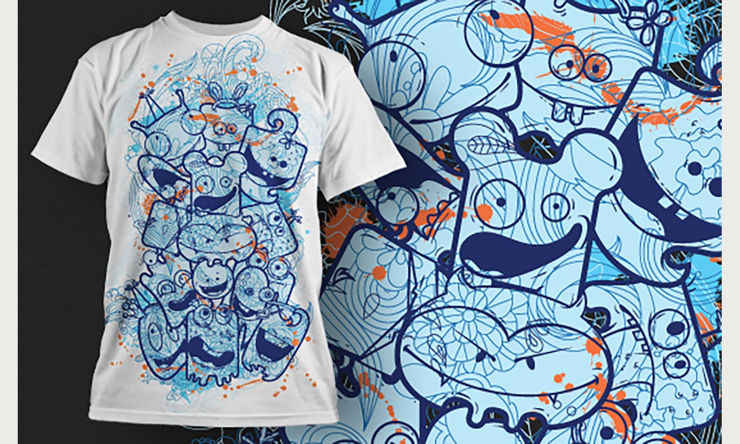 Blue - Printed T-Shirt for Men, Women and Kids - TS300