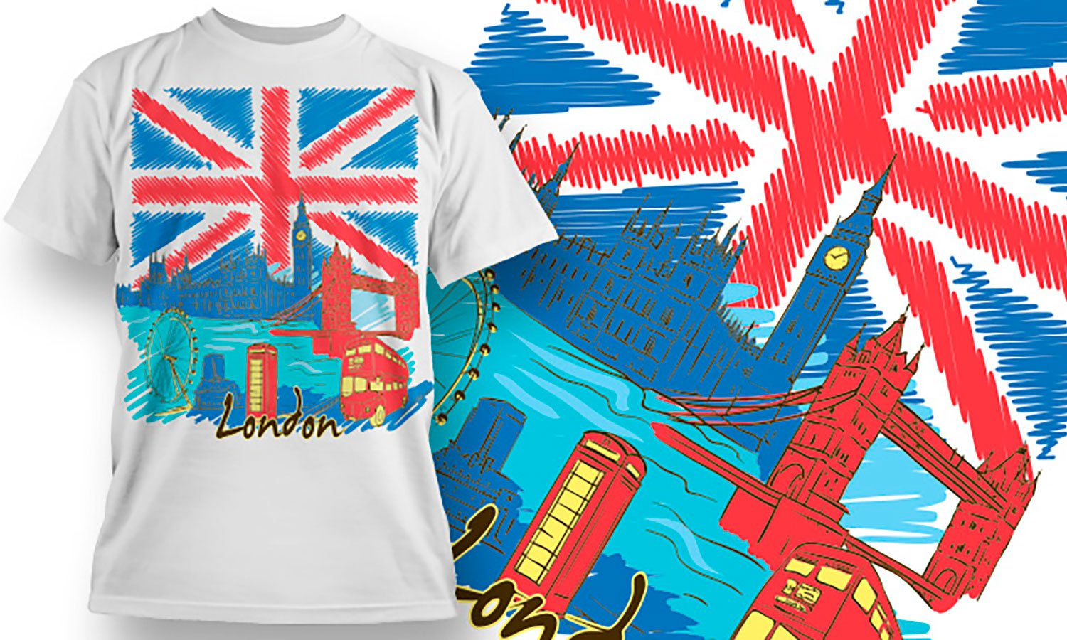 London - Printed T-Shirt for Men, Women and Kids - TS117