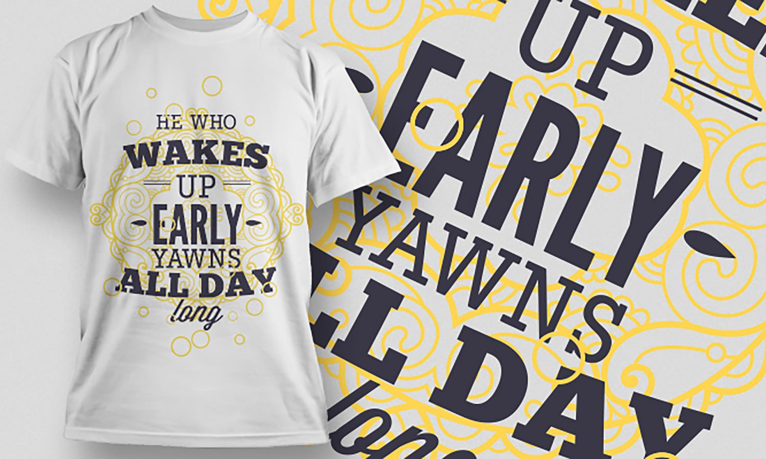Wakes Up - Printed T-Shirt for Men, Women and Kids - TS444