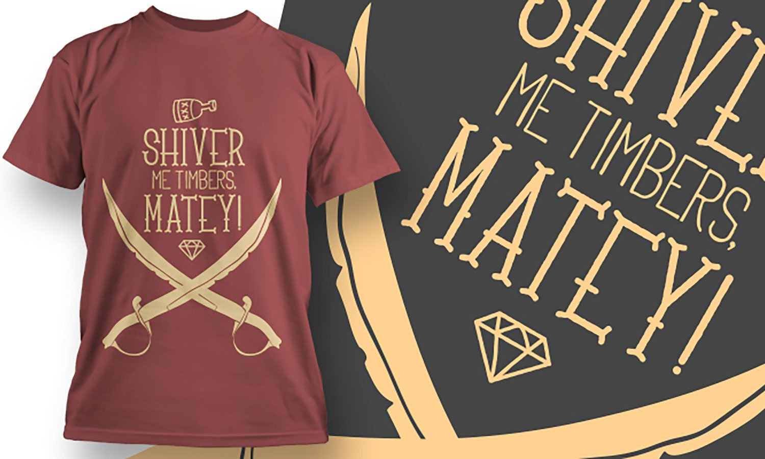 Matey - Printed T-Shirt for Men, Women and Kids - TS431