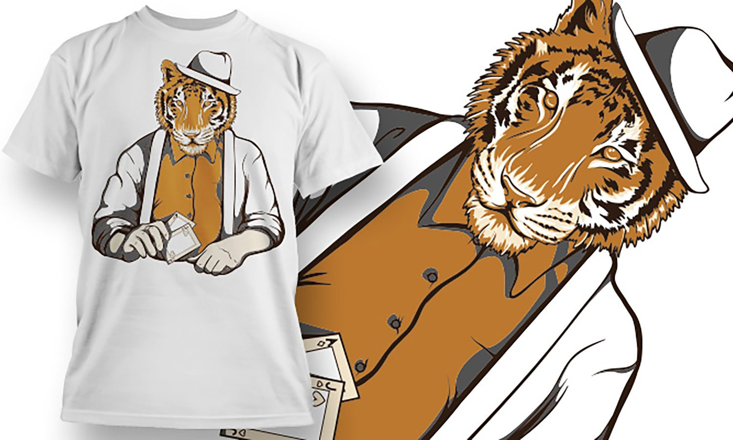 Tiger Man - Printed T-Shirt for Men, Women and Kids - TS395