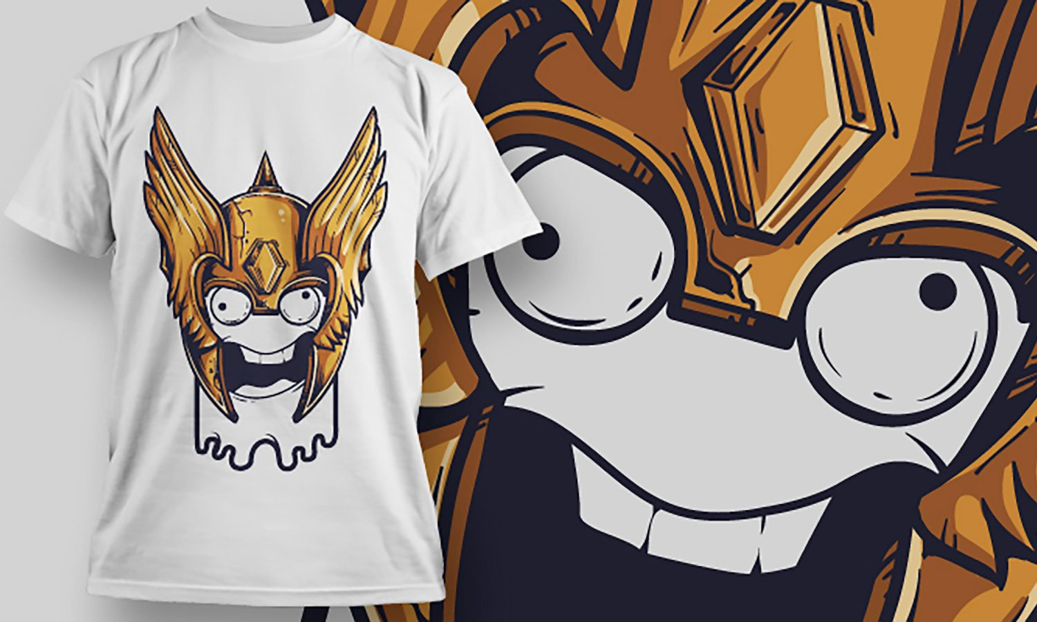 King Head - Printed T-Shirt for Men, Women and Kids - TS030