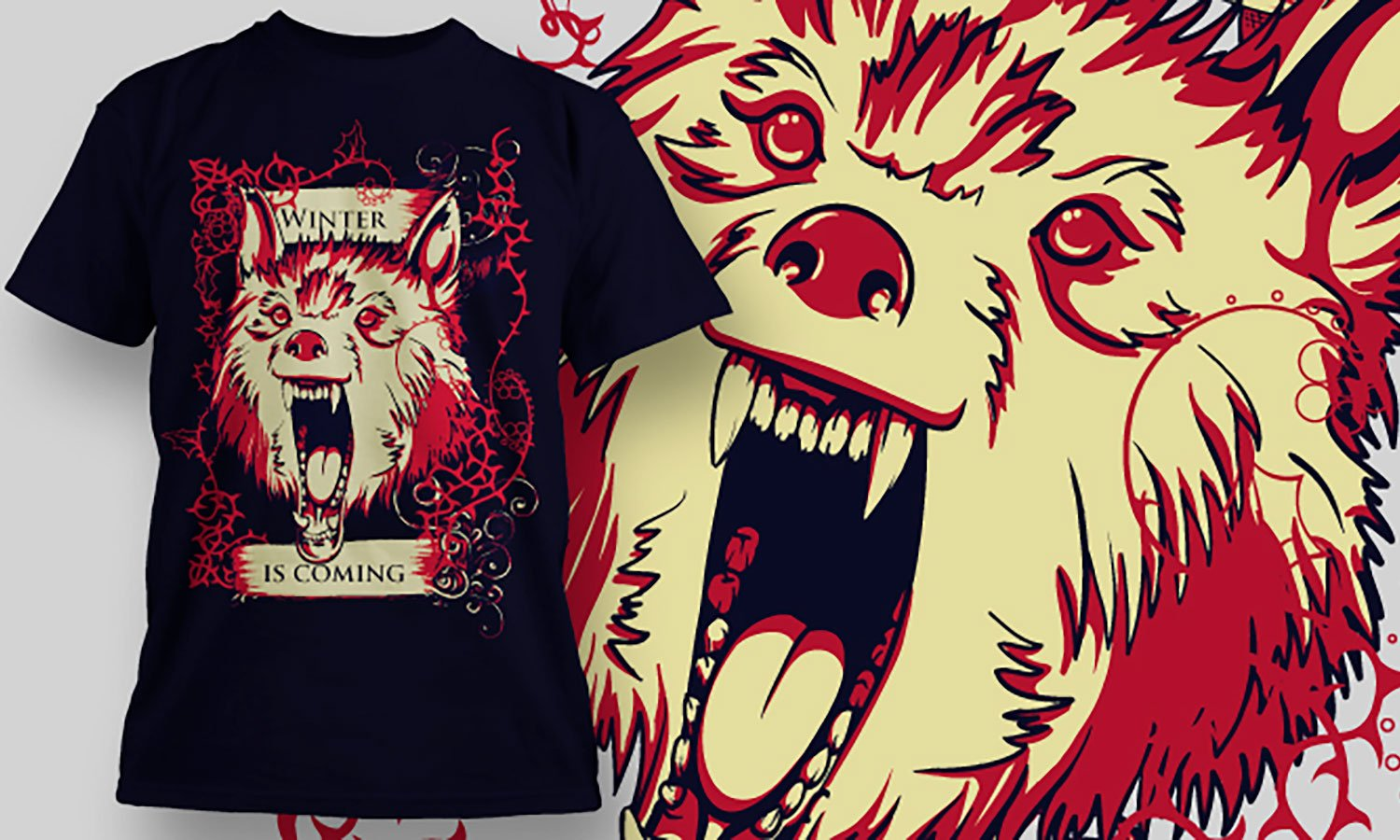 Winter Wolf - Printed T-Shirt for Men, Women and Kids - TS103