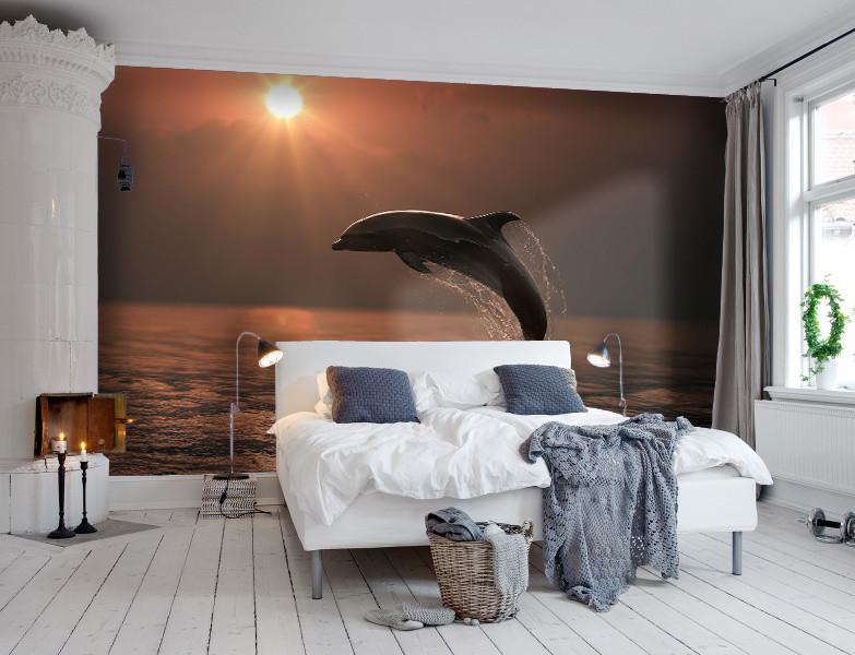 Wallpaper Beautiful Dolphins SW398