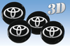 Toyota -3D wheel stickers