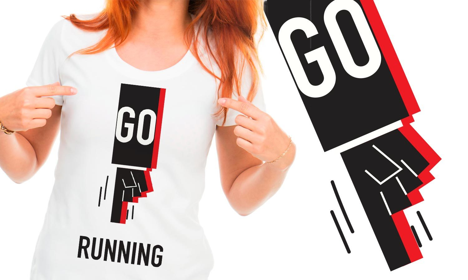 Go Running - Printed T-Shirt for Men, Women and Kids - TS005