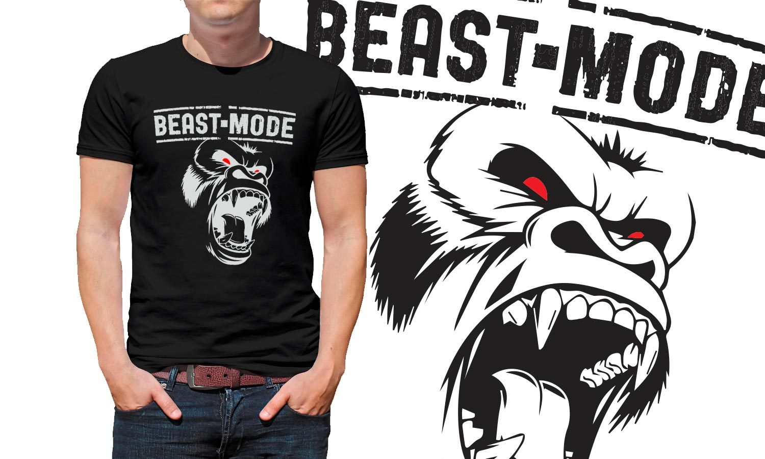 Beast Mode Gym - Printed T-Shirt for Men, Women and Kids - TS004