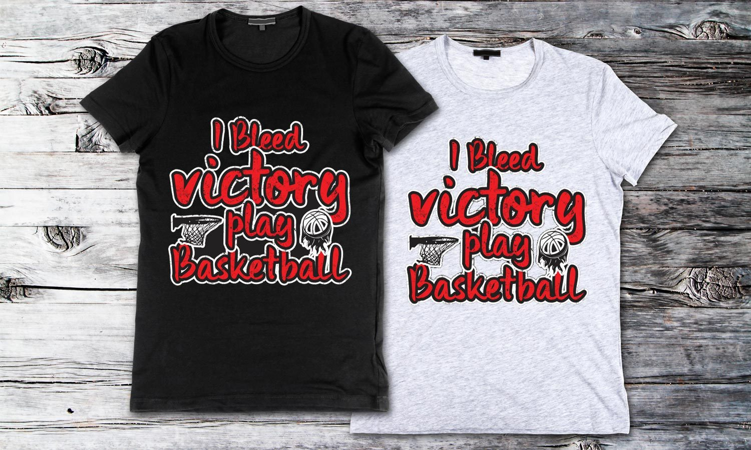 Victory Basketball - Printed T-Shirt for Men, Women and Kids - TS243