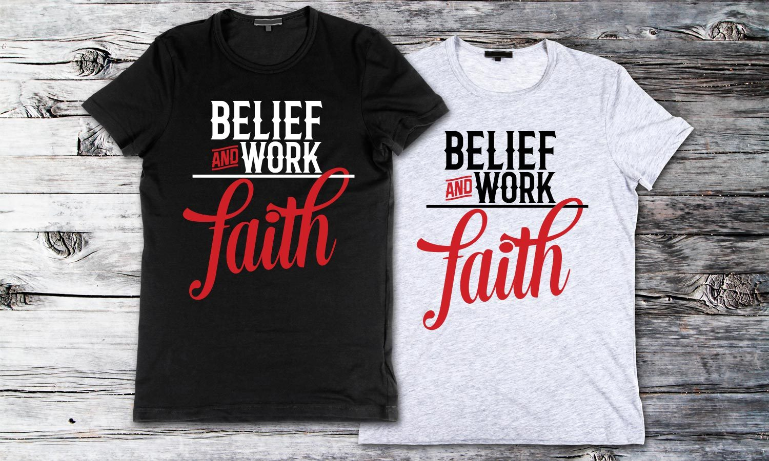Faith - Printed T-Shirt for Men, Women and Kids - TS156