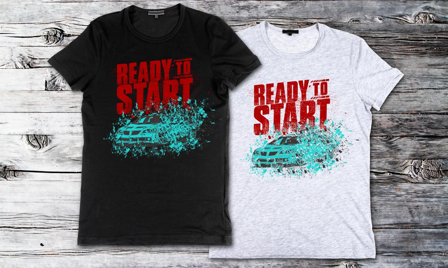 Ready to Start - Printed T-Shirt for Men, Women and Kids - TS147