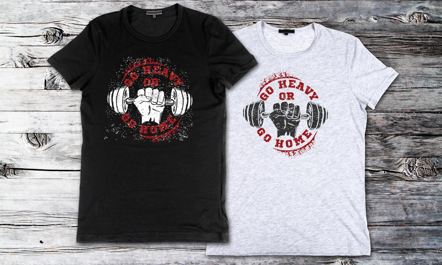 Fitness Go Heavy - Printed T-Shirt for Men, Women and Kids - TS012