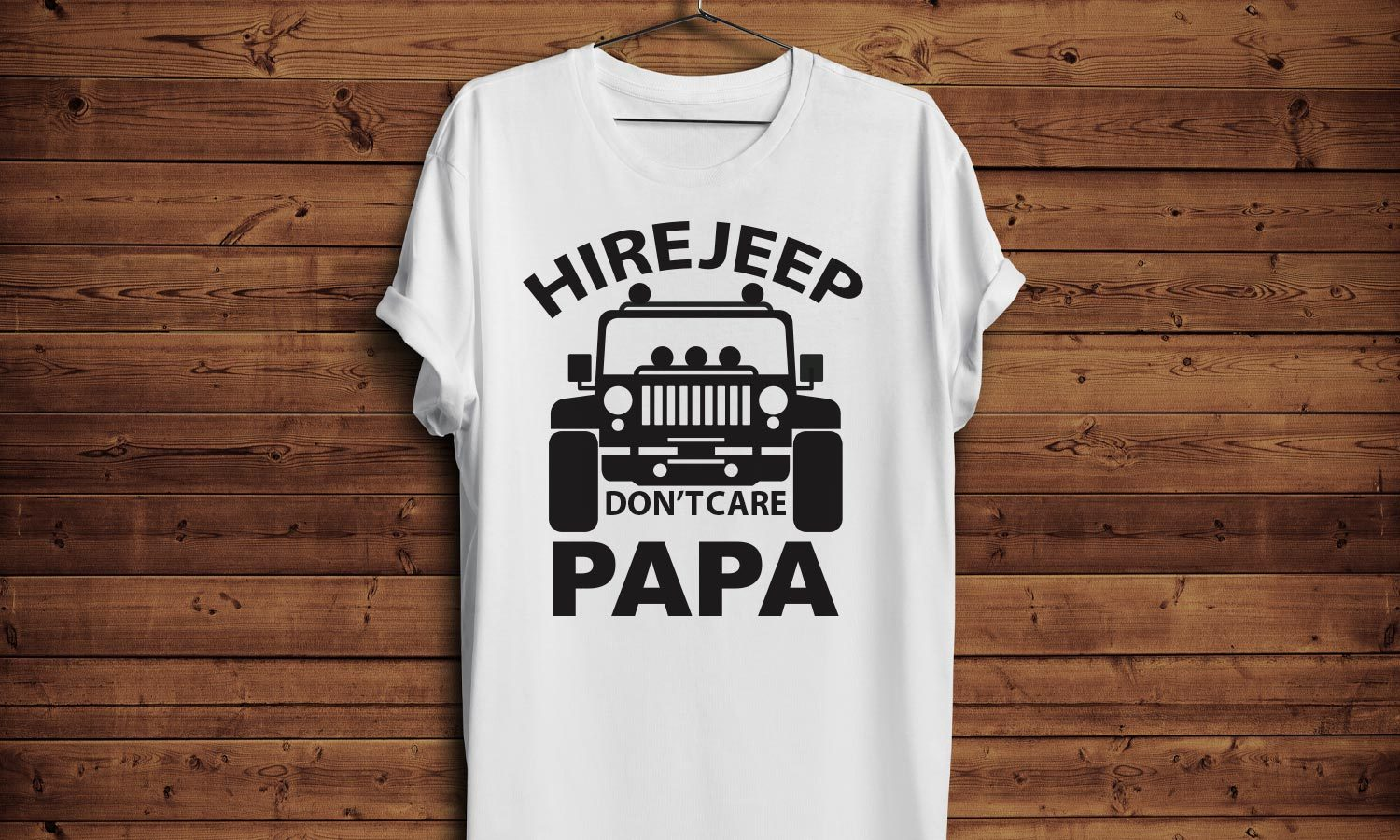 Hire Jeep - Printed T-Shirt for Men, Women and Kids - TS256