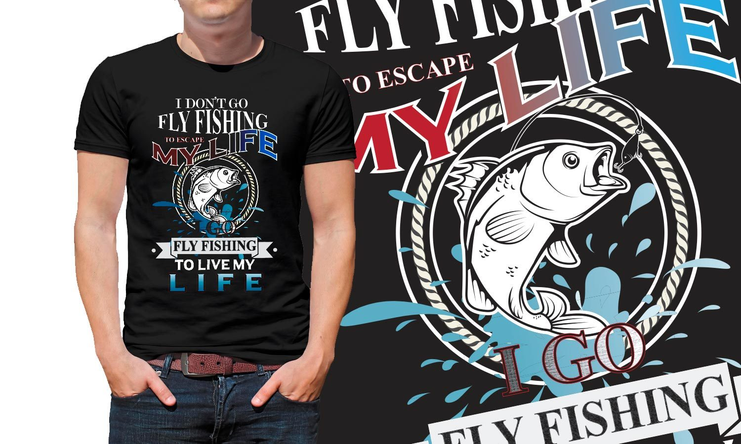 Fishing Life - Printed T-Shirt for Men, Women and Kids - TS161