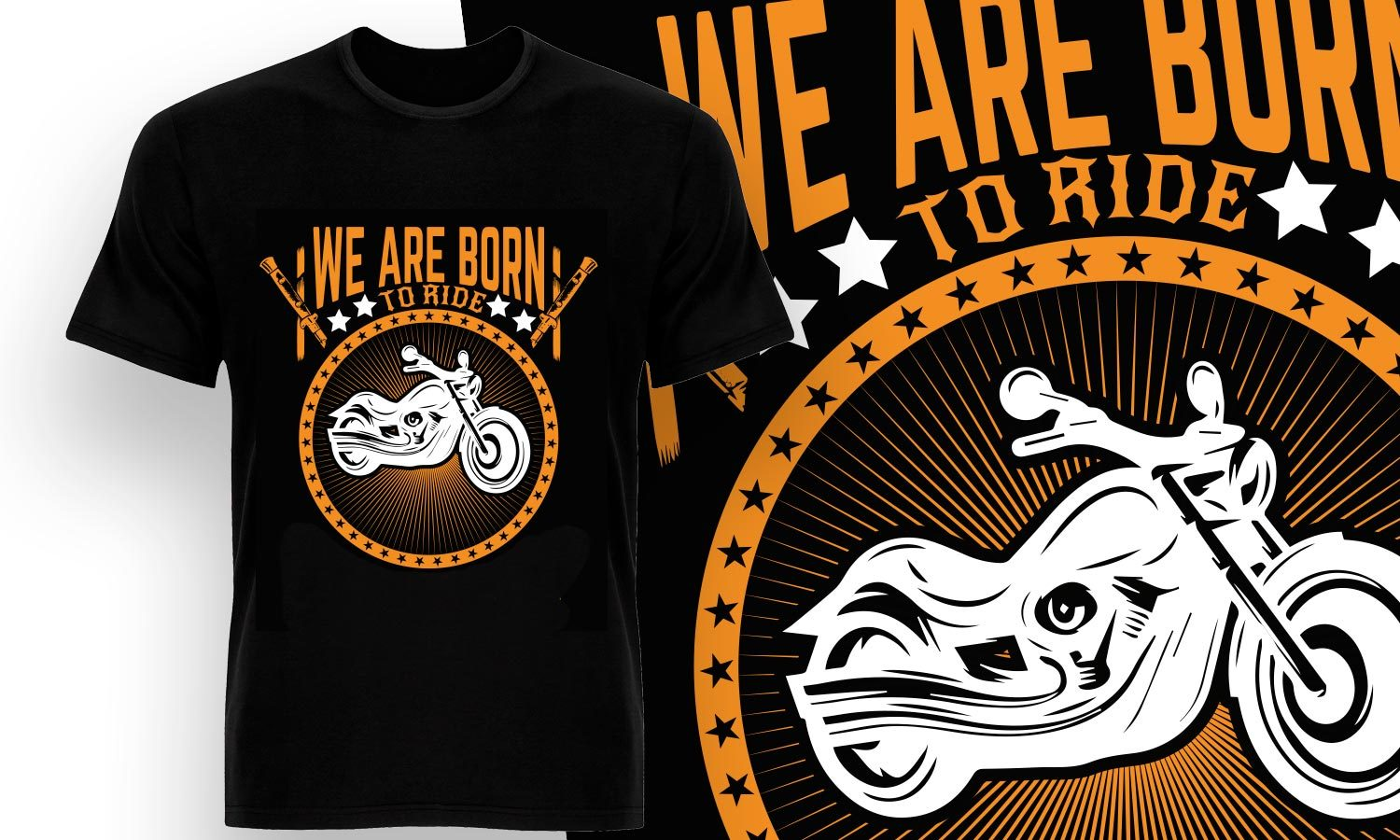 Born To Ride - Printed T-Shirt for Men, Women and Kids - TS170