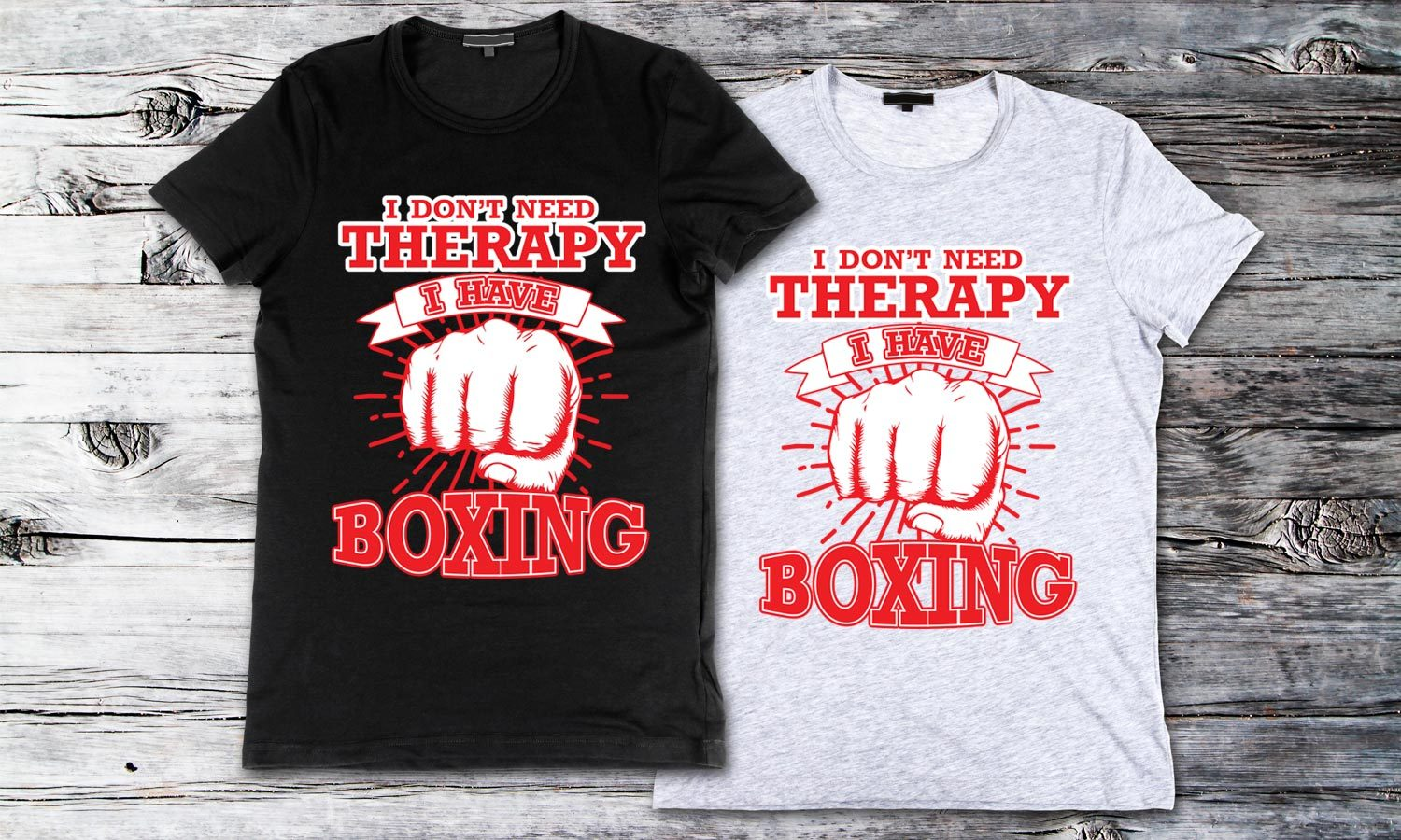 Boxing Therapy - Printed T-Shirt for Men, Women and Kids - TS245