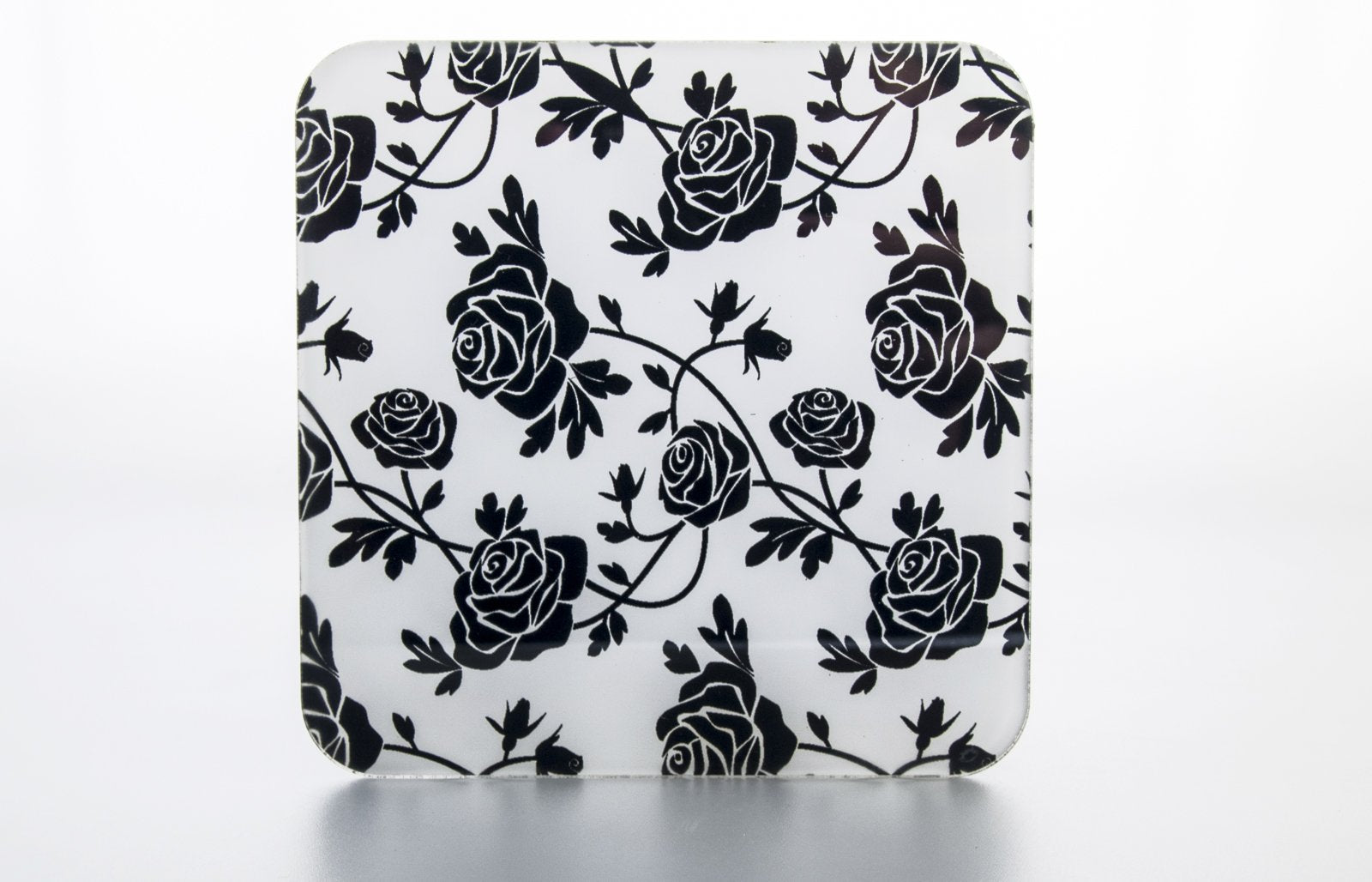 Coasters-  Black Roses  CO031 - Art Life Decor