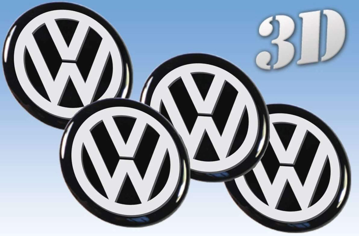 Volkswagen Gray-3D wheel stickers