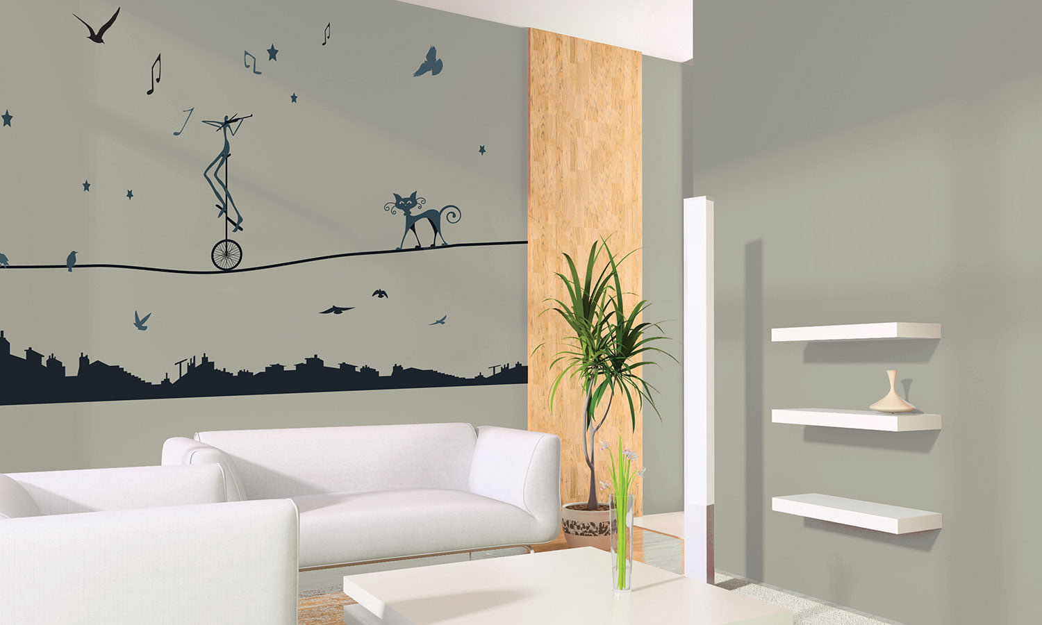 Wall stickers Fun Cats - WS054