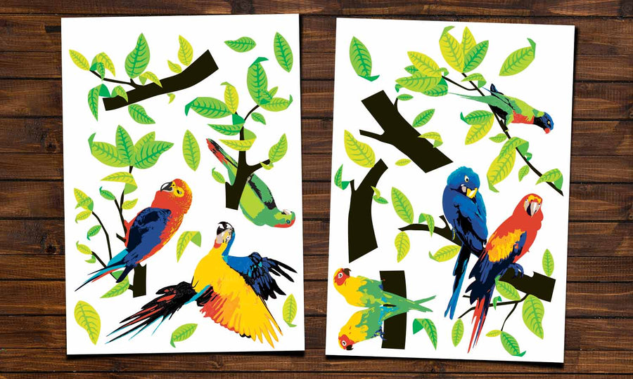 Wall stickers Parrots - WS036