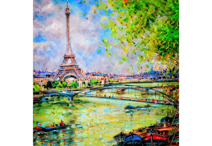 Wallpaper Colorful painting of Eiffel SW197