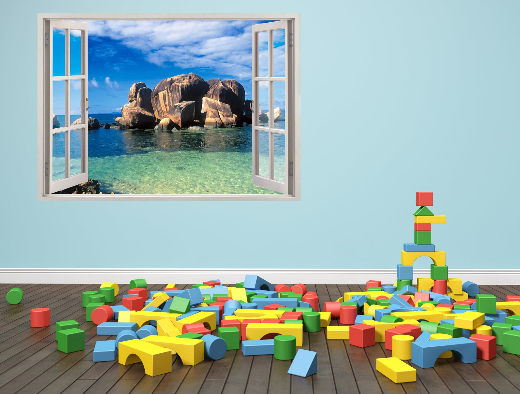 3D Art Wall stickers Sea rocks - 3D062 - Art Life Decor
