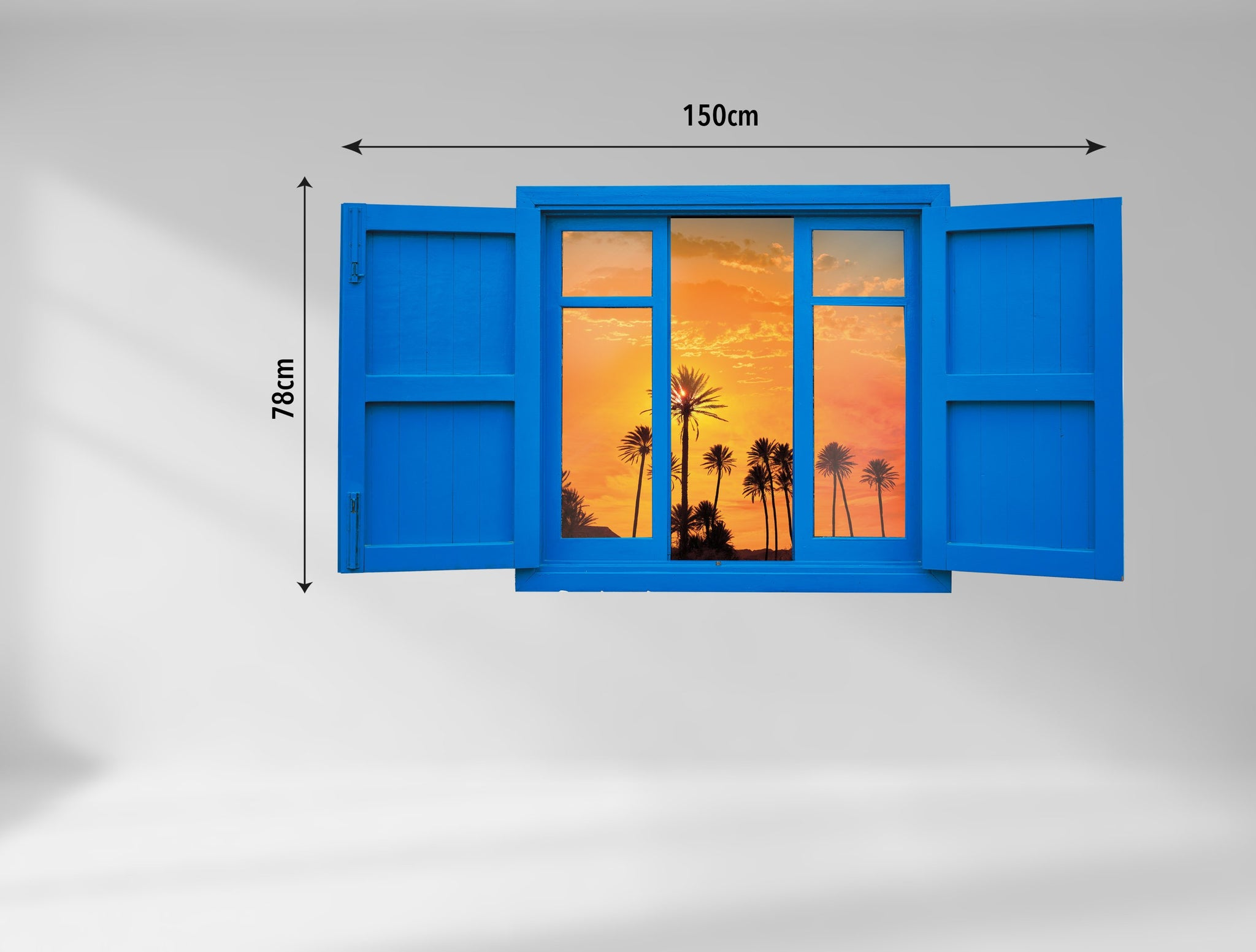3D Art Wall stickers Sunset window - 3D061 - Art Life Decor