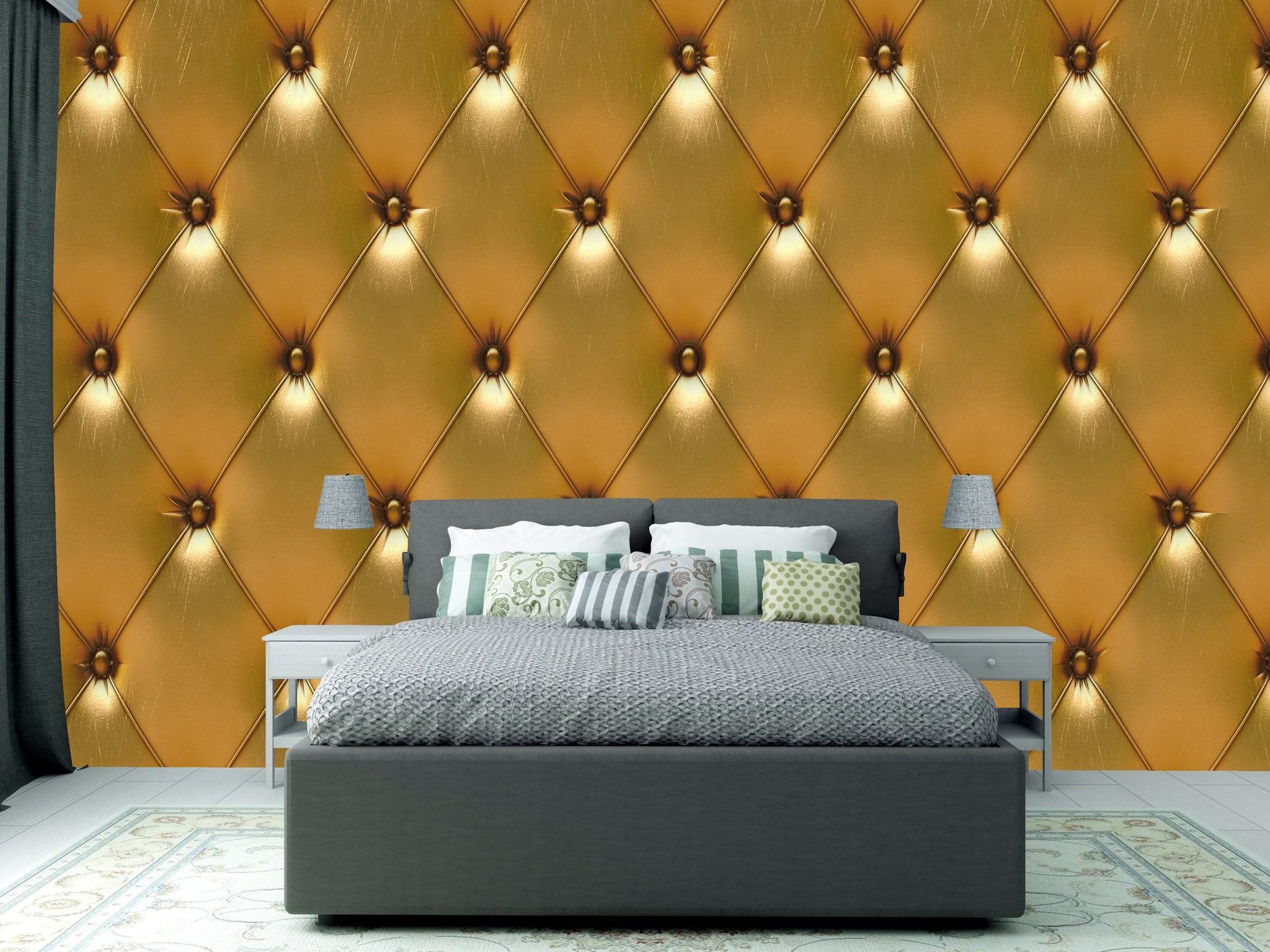 Wallpaper Gold leather SW558