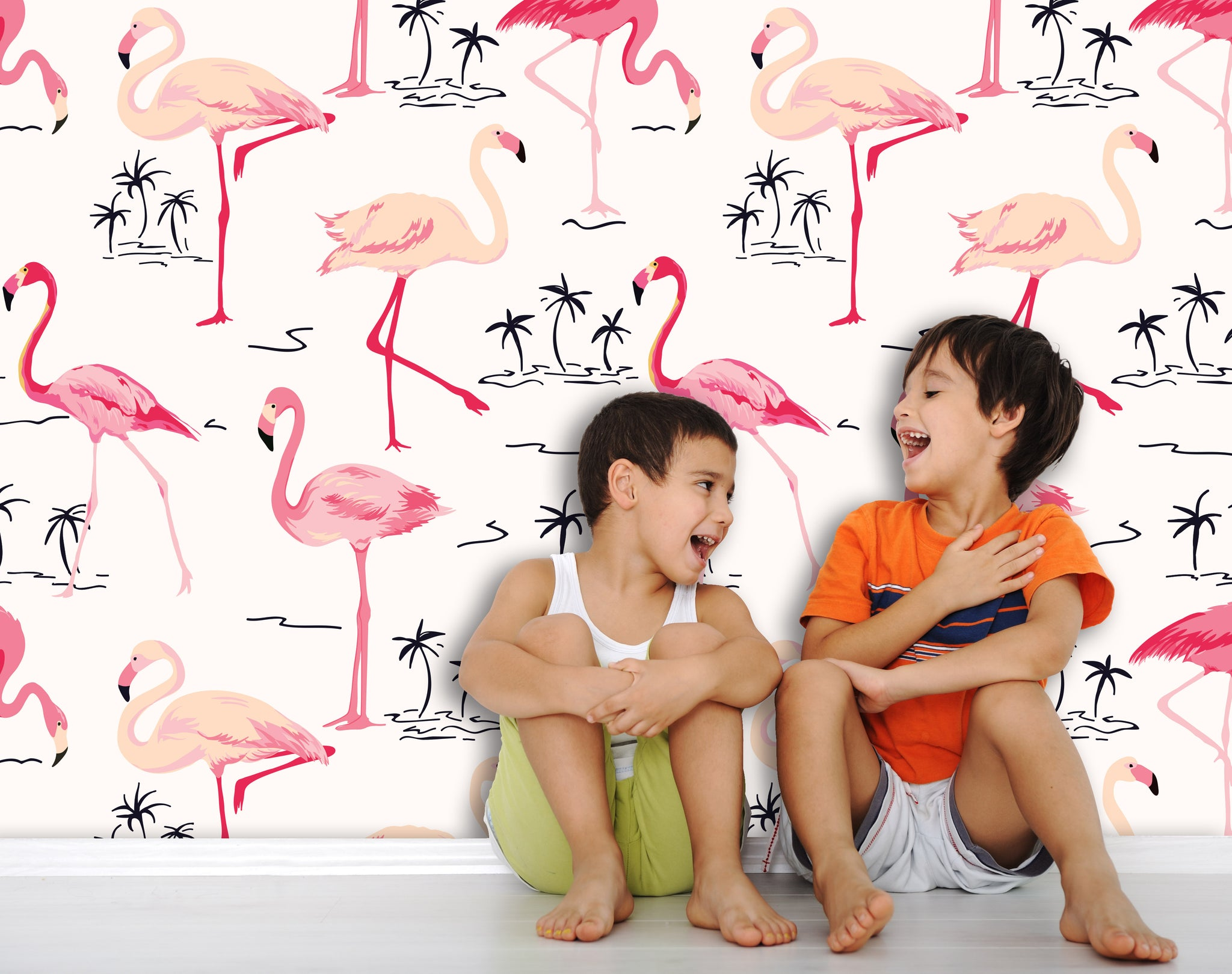 Wallpaper Flamingos SW552
