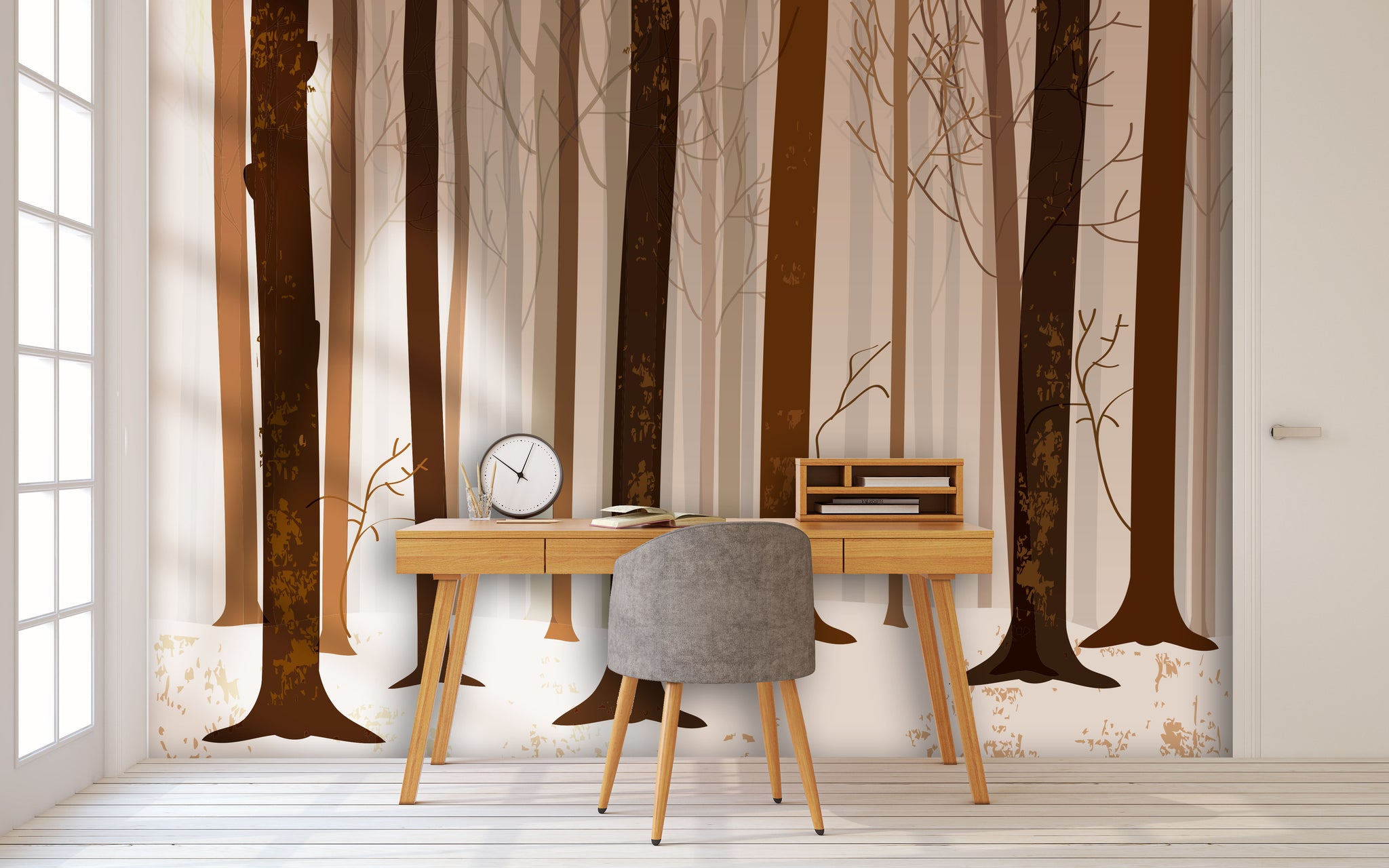 Wallpaper Brown forest SW549
