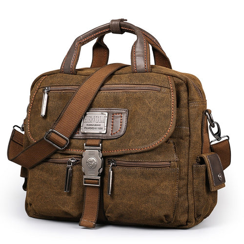 Retro Canvas Multifunction Messenger Bags