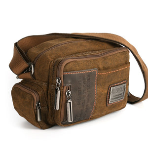 Multifunction Man Messenger Retro Canvas Shoulder Bag