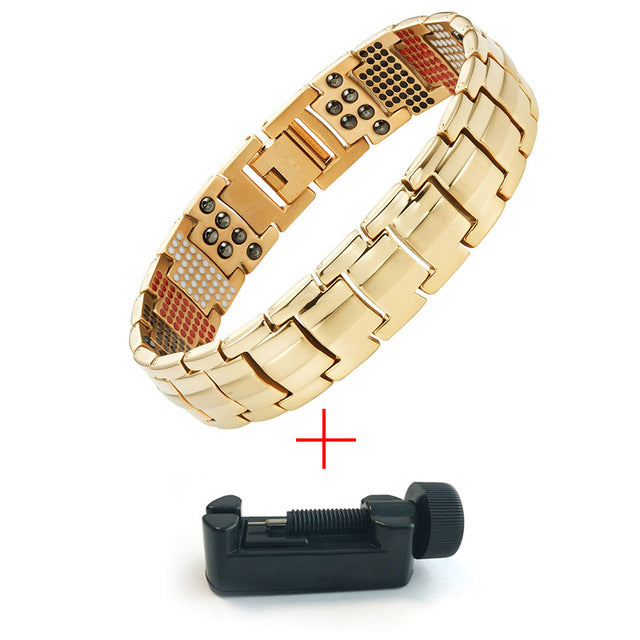Escalus 2018 Men's Black Pure Titanium Magnetic Bracelet