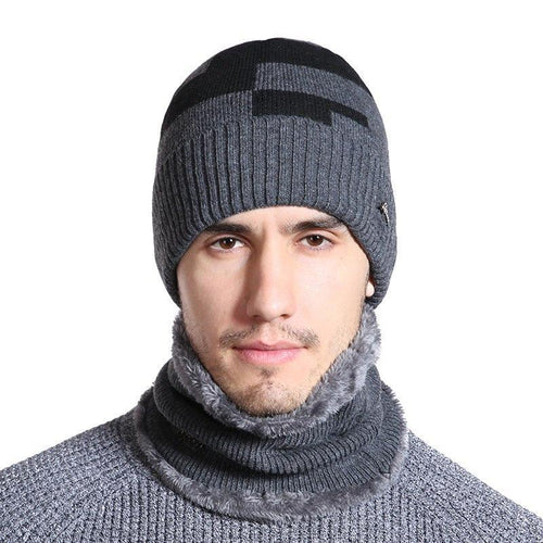 Plus Velvet Winter Hat Men