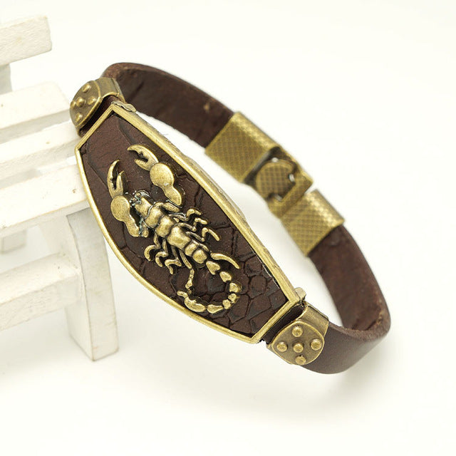 European And American Fashion Leather Bracelet