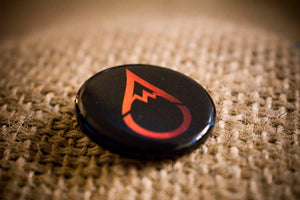 Abide Culture Drip Button in Orange