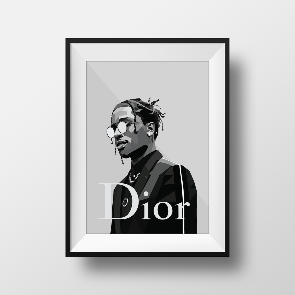ASAP ROCKY Rap Hip Hop Music Star Dior Wall Poster