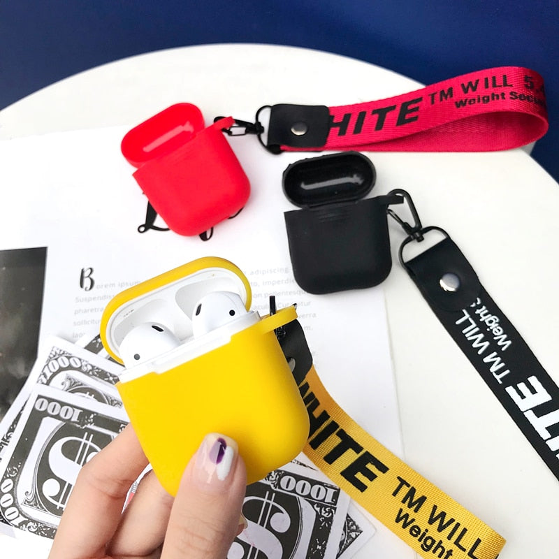 Custom Off-White Airpod Case