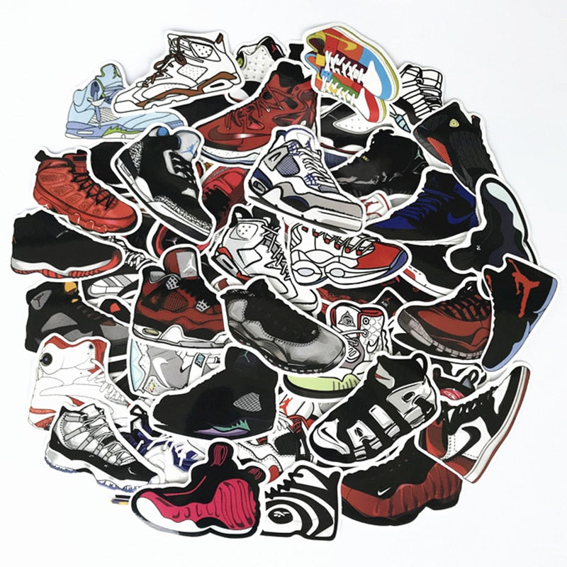 60Pcs/Lot Basketball Stars Sneakers Stickers