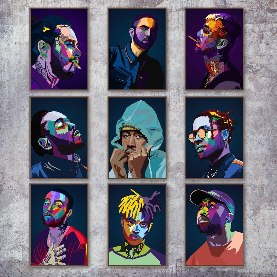 Hip-Hop Artist Wall Decor