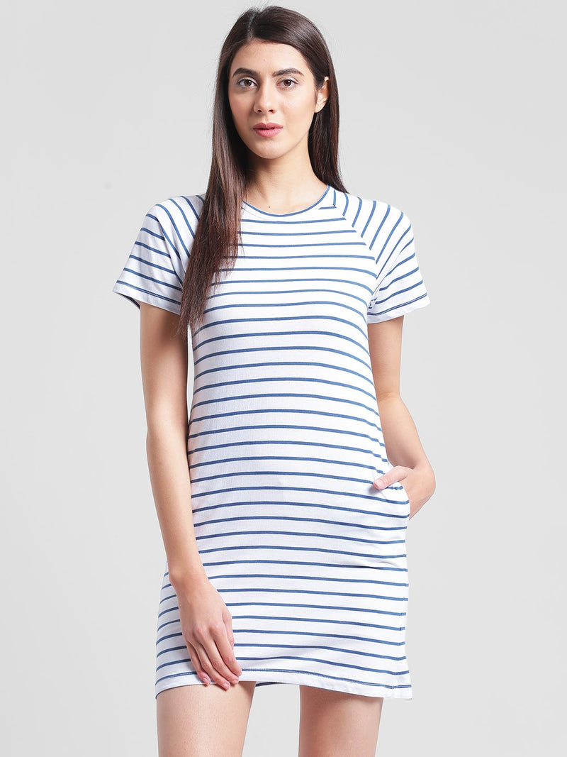 RIGO Striped Skater Dress