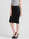 RIGO Solid Black Bodycon Skirt