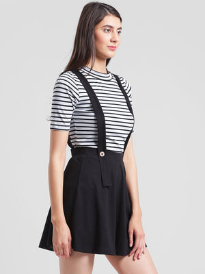 RIGO Black suspender skater skirt