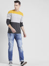 Rigo Color Block Full Sleeve T-Shirt For Men