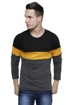 Multicolor Panel Full Sleeve Round Neck Tee