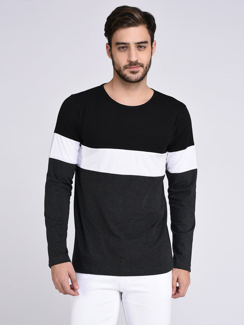 Rigo Black Charcoal Colorblock Tshirt-Full