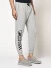 Rigo Men Grey Terry With Placement Print On Bottom Jogger