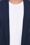 Rigo Navy Open Long Cardigan Full Sleeve Shrug for Men