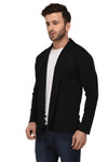 Rigo Black Open Cardigan Full Sleeve Shrug For Men