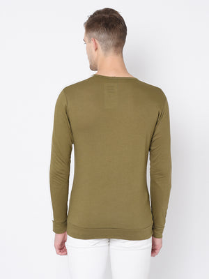 Rigo Cut & Sew Full Sleeve T Shirt For Men